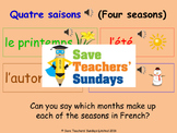 French Seasons & weather Lesson plan, PowerPoint (with audio) and More ...