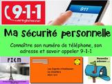 """French: 911 Emergency,""""Sécurité personnelle 911 URGENCE"""", Etiquettes & Activités"""