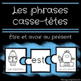Etre et avoir // French Sentence Building Puzzles with the verbs Etre and Avoir