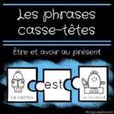 Etre et avoir // French Sentence Building Puzzles with the