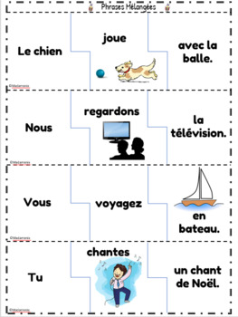 French: Sentence Puzzles for Early Learners: Centre Activity