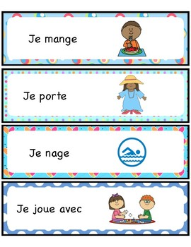 French immersion- Sentence Starters - Writing - Writer's workshop - Français