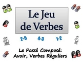 French Sentence Writing Activity: Passe Compose  (Avoir and Reg Verbs)