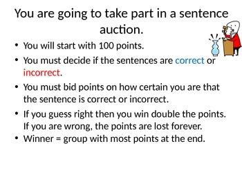 French Sentence auction