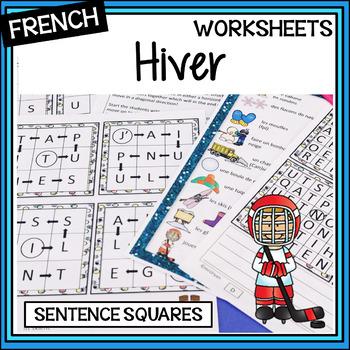 French – Sentence squares – carrés de phrases