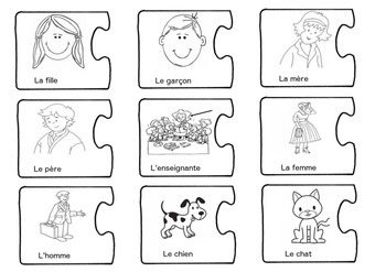 French Writing Prompts Puzzle