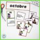 French October Calendar Cards | OCTOBRE