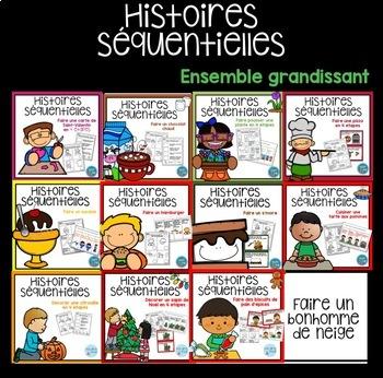 French Sequencing activity BUNDLE/ Histoires séquentielles (Ensemble)
