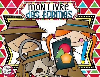 French 2D Shape Detective Book - Mon livre des formes