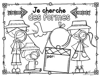 French 2D Shape Detective Printables