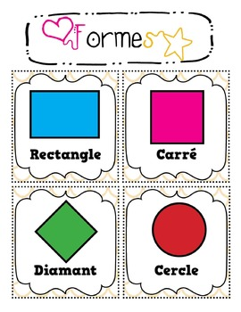 Shape Flash Cards in French