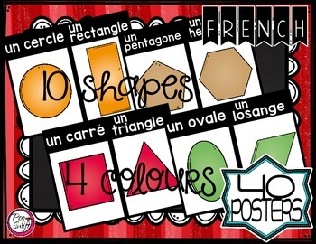 French 2D Shape Posters