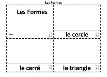 French Shapes 2 Emergent Reader Booklets - Les Formes