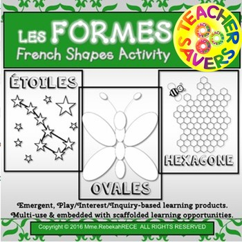 French Shapes Activity Les Formes for Playdough, Coloring, Sensory