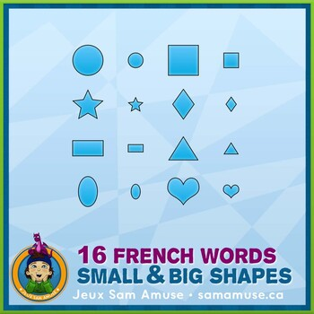 French Shapes Bingo Game • Circus Theme