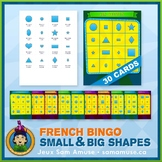 French Shapes Bingo Game • Circus Theme