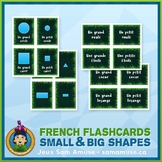 French Shapes Flash Cards • 3 styles included • Jungle Theme