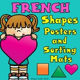 French Shapes Posters and Sorting Mats:  2D Shapes