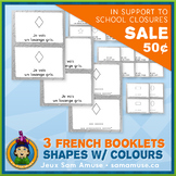 ⭐SALE⭐ French Shapes with Colours • 3 Reading & Writing Bo