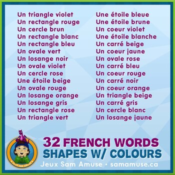 French Shapes With Colours 3 Reading Writing Booklets Jungle Theme