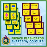 French Shapes with Colours Flash Cards • 3 styles included