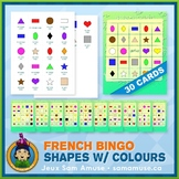 French Shapes with Colours Bingo Game • Abstract Theme