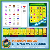 French Shapes with Colours Bingo Game • Circus Theme