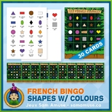 French Shapes with Colours Bingo Game • Jungle Theme