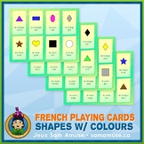French Shapes with Colours Playing Cards • Card Game • Abs