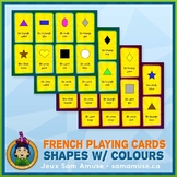 French Shapes with Colours Playing Cards • Card Game • Cir