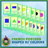 French Shapes with Colours Word Wall • Vertical 1/2 Page P