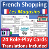 French Shopping Au Magasin Speaking Activities Role Play