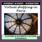 French – Shopping in Paris, France - Internet Activity!