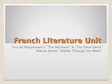 French Short Story Unit: PowerPoint