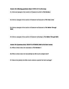French Short Story Unit Test