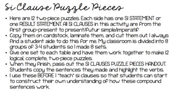 French Si Clauses (1st Group) Puzzles with Notes SET #1