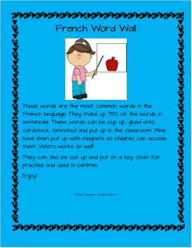 French Sight Words