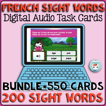 French Sight Words Audio Digital Task Cards | Mots fréquents | French BOOM Cards
