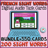 French Sight Words Bundle | French BOOM Cards | French Distance Learning