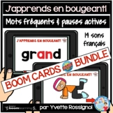 French Sight Words Boom Cards with Brain Breaks BUNDLE | M