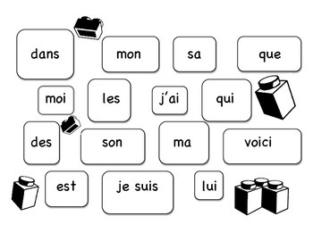 French Sight Words Mats