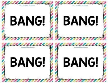 French Sight Words  / Mots de Haute Fréquence: BANG!