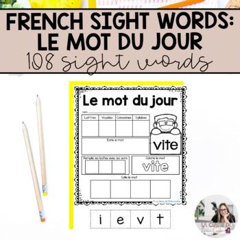 French Sight Words / Mots de Haute Fréquence: Le mot du jour