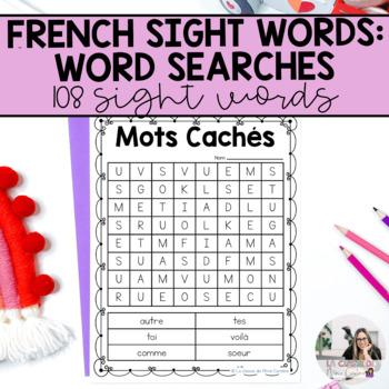 French Sight Words  / Mots de Haute Fréquence: Les Mots Cachés