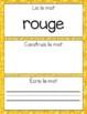 French Sight Words / Mots de Haute Fréquence: Lis, Construis, Écris