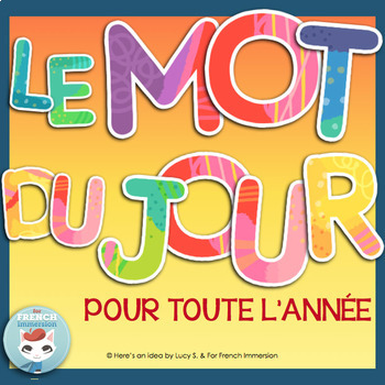 Mot du jour:French word of the day | Mots fréquents-French sight words bell work