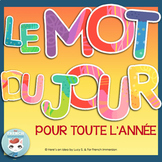 Mot du jour French word of the day | Mots fréquents-French sight words bell work