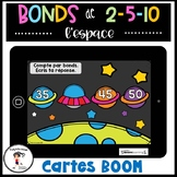 French Skip Counting   Bonds de l'espace 1 à 100 BOOM CARDS Distance Learning