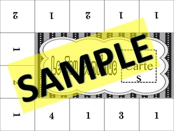 French Small Group Grammar Games, Inventive Twist on Memory (20 Versions)