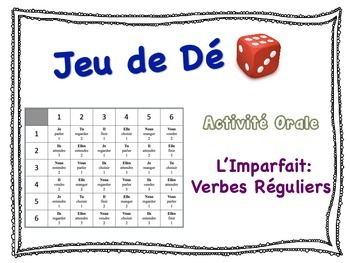 French Imperfect (Regular Verbs) Speaking Activity for Small Groups